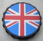 "Bonneville Thruxton T100 & Scrambler. Petrol/Gas Cap: Black GRIP Type. ""Union Flag"""